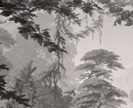 Papier peint panoramique L'Eden monochrome . 1861
