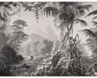 Panoramic wallpaper Eden monochrome . 1861
