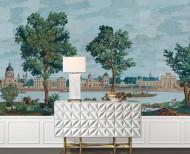 Papier peint panoramique Monuments de Paris polychrome . 1812