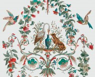Decorative wallpaper Fable polychrome . 1834