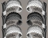 Decorative wallpaper Stylized leaves beige . 1803