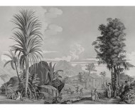Panoramic wallpaper Paul and Virginie monochrome . 1824