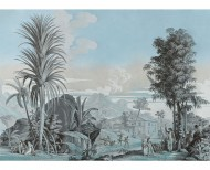 Panoramic wallpaper Paul and Virginie azure blue . 1824