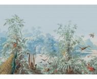 Papier peint panoramique Le Brésil polychrome . 1862