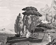 The landscape of Telemachus on the isle of Calypso monochrome . 1818 - - Le Grand Siècle