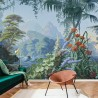 Panoramic wallpaper Eden polychrome . 1861