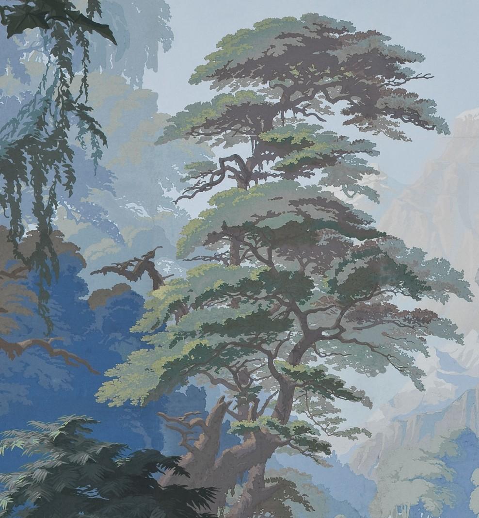 Panoramique L'Eden bleu forêt . 1861