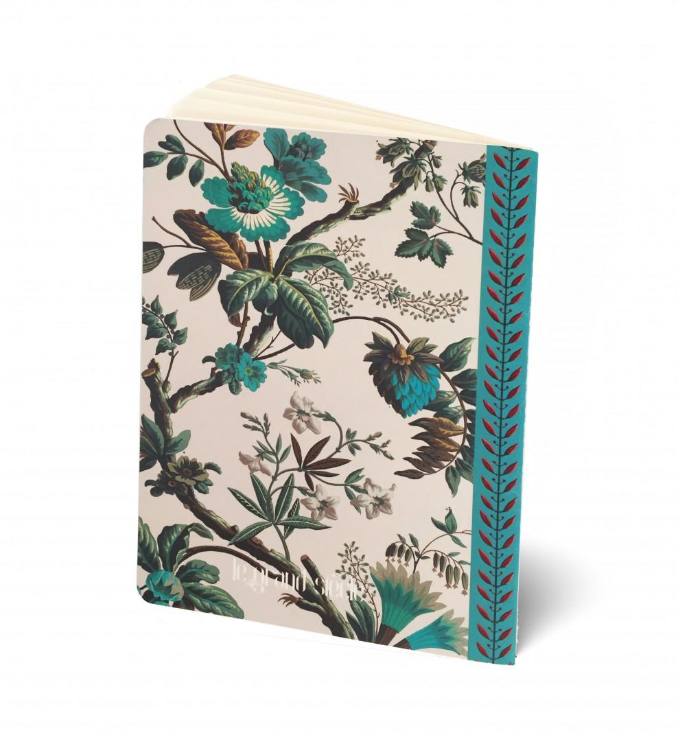 Cahier A5 Fleurs de fantaisie - Recto . 1799