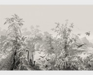 Panoramic wallpaper Brazil monochrome . 1862