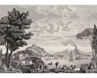 Papier peint panoramique Vues d'Italie monochrome . 1823