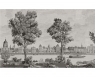 Papier peint panoramique Monuments de Paris monochrome . 1812