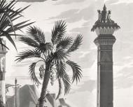 Papier peint panoramique Les Incas monochrome . 1818