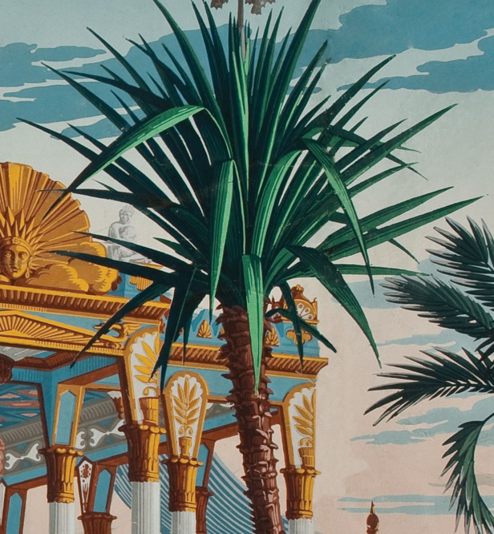 Panoramique Les Incas polychrome . 1818