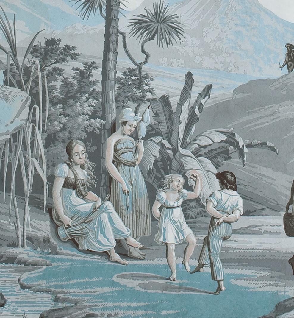 Panoramique Paul et Virginie bleu azur . 1824