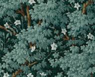 Decorative wallpaper Jasmine green grey . 1799