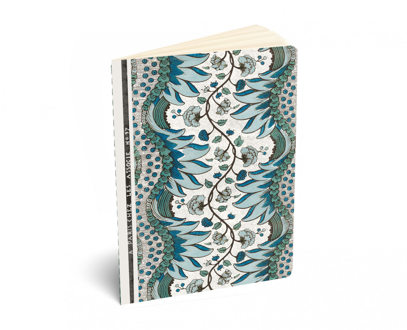 Notebook A5 . Domino paper n°97 blue . 1750