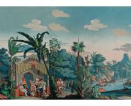 Papier peint panoramique Les Incas polychrome . 1818