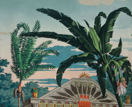 Panoramic wallpaper The Incas polychrome . 1818