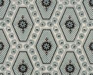 Domino wallpaper blue diamonds . 1805