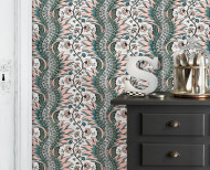 Domino wallpaper pale pink Carnations . 1799