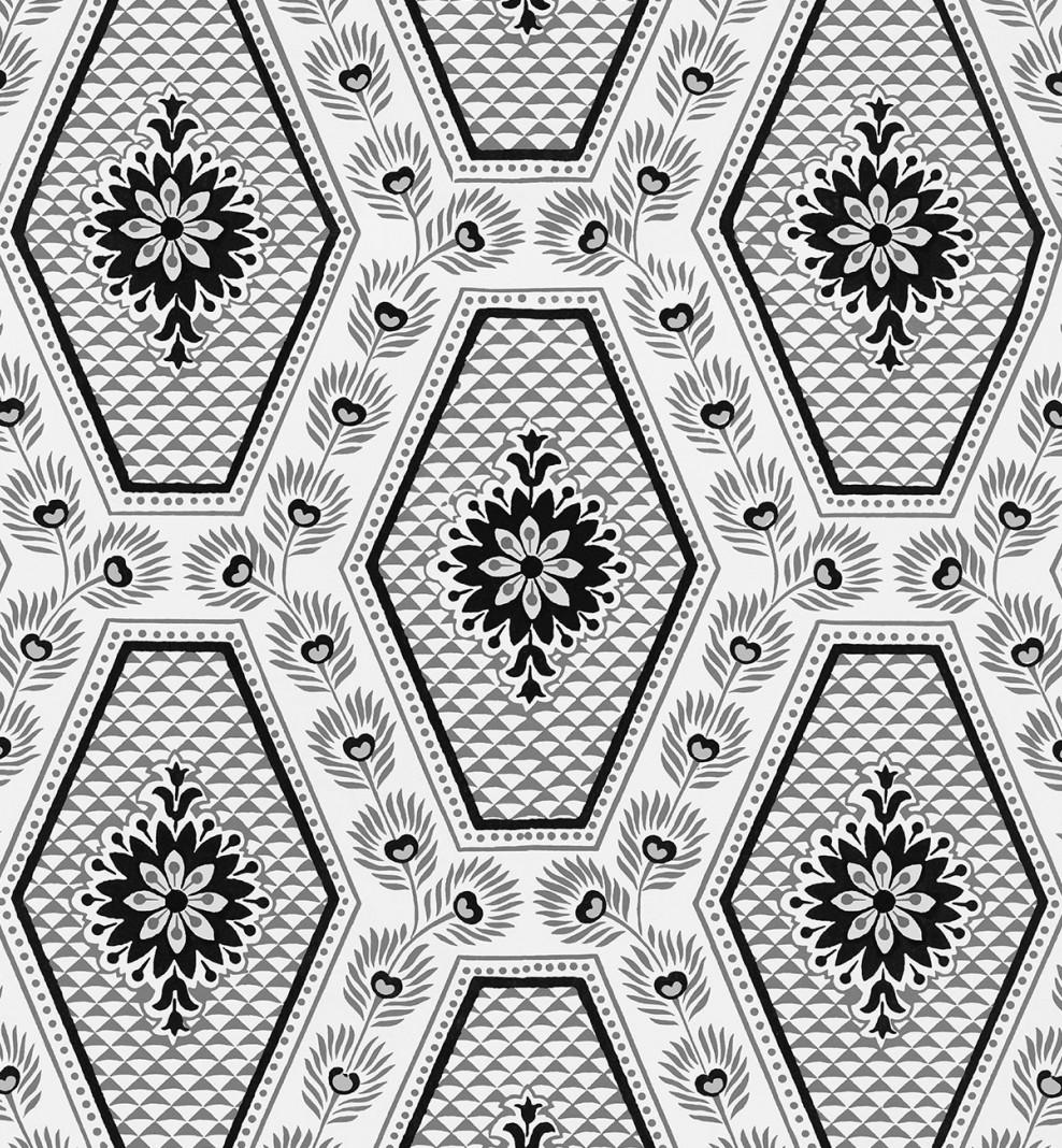 Domino wallpaper Grey Diamonds . 1805