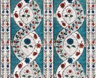 Papier peint dominoté Spirale . 1760