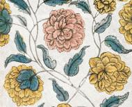 Papier peint dominoté Pavot . 1750