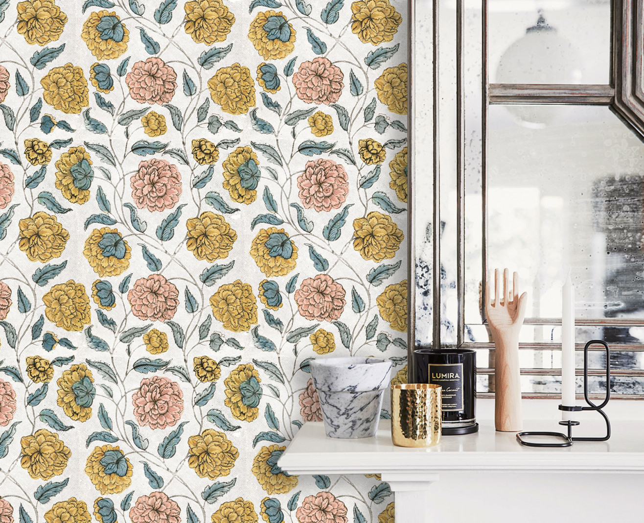 Domino wallpaper poppy . 1750