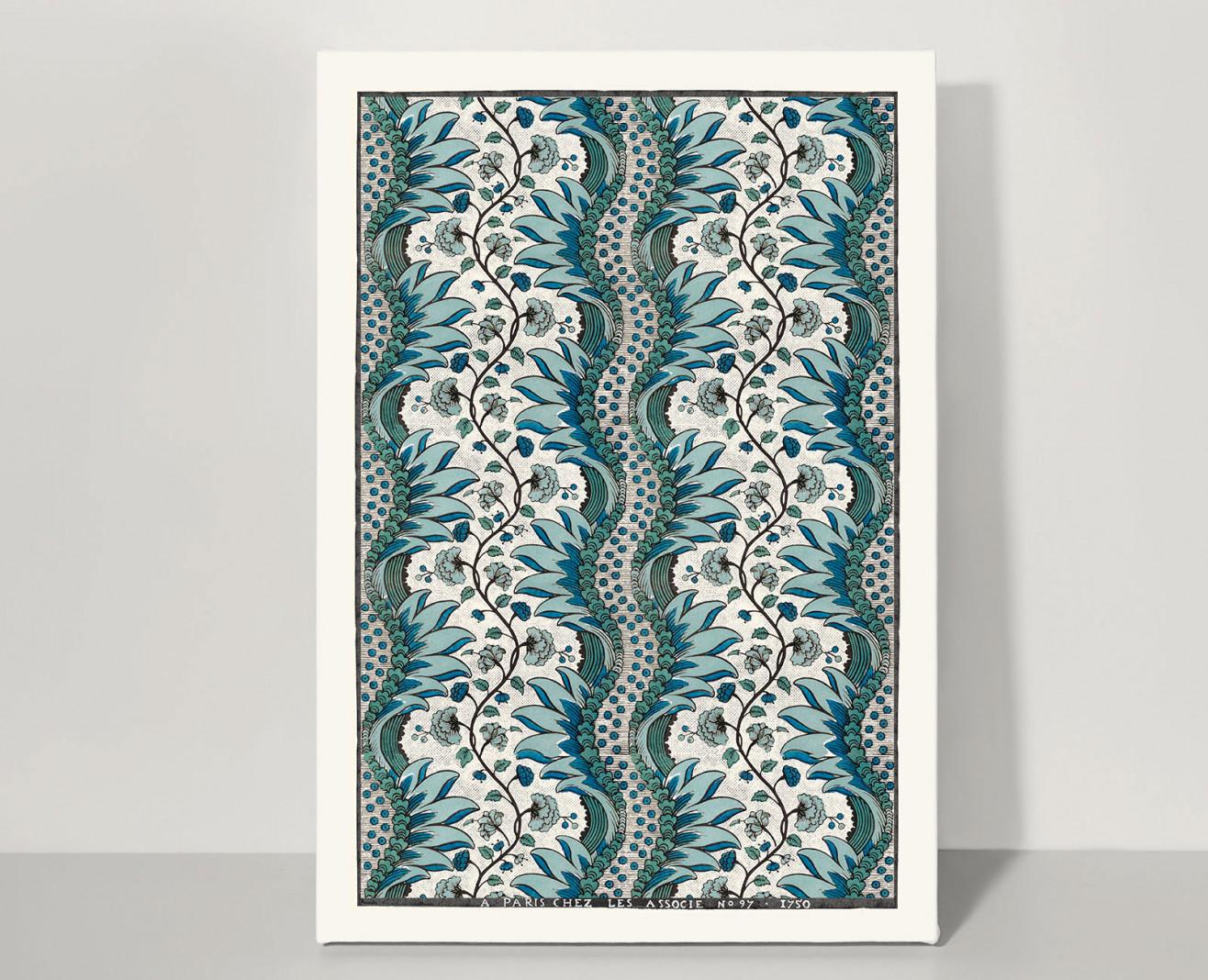 Domino sheet blue Carnations . 1750