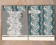 Trio de planches dominotées A3 blush bleu or . 1750