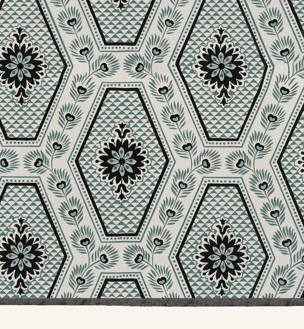 Domino board blue diamonds A3 . 1799