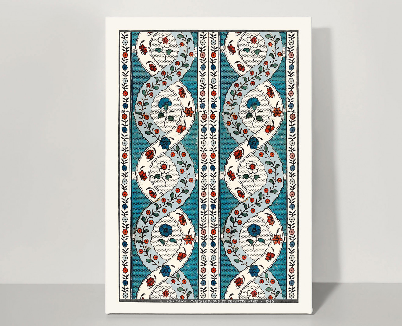 Domino board spiral A3 . 1760