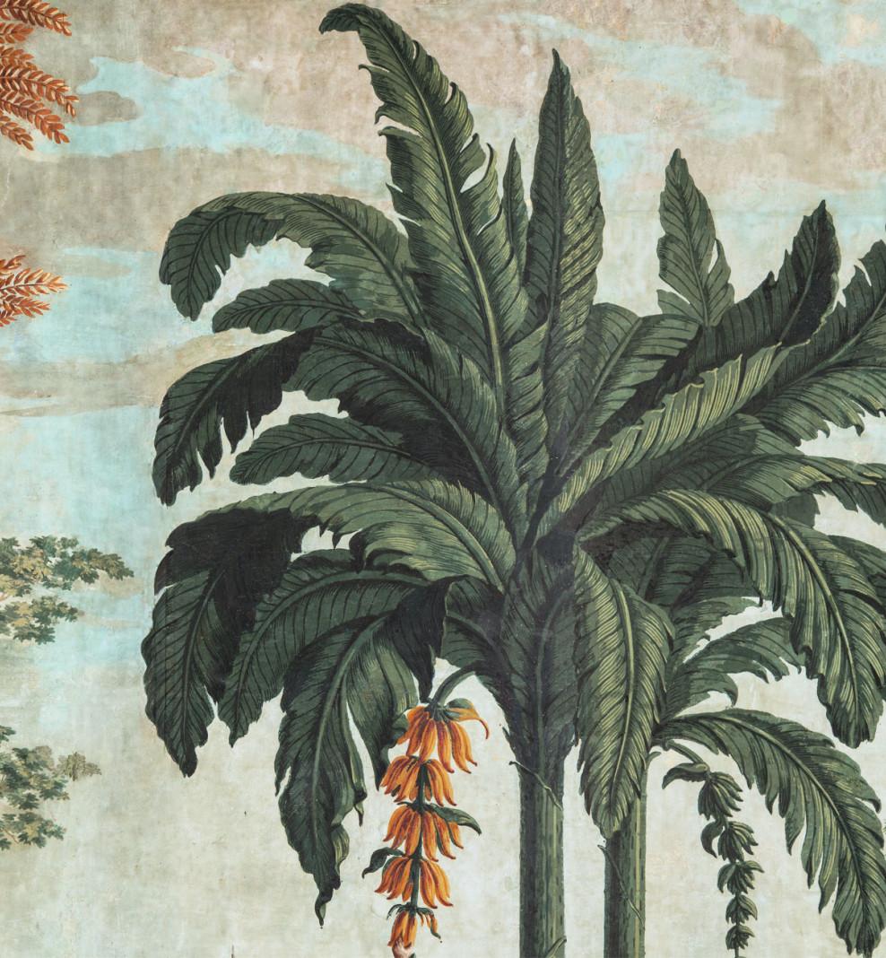 Panoramic wallpaper Native Peoples of the Pacific Ocean . 1818