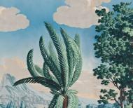 Papier peint panoramique Paysage de Télémaque dans l'île de Calypso polychrome . 1818