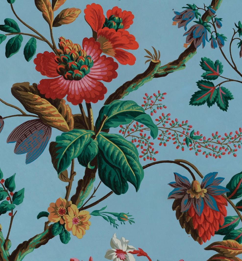 Papier décor Fleurs de fantaisie . 1799