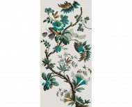 Decorative wallpaper Fancy flowers cyan . 1799