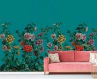 Decorative wallpaper Hollyhocks . 1799
