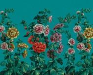 Papier peint décor Roses Trémières . 1799